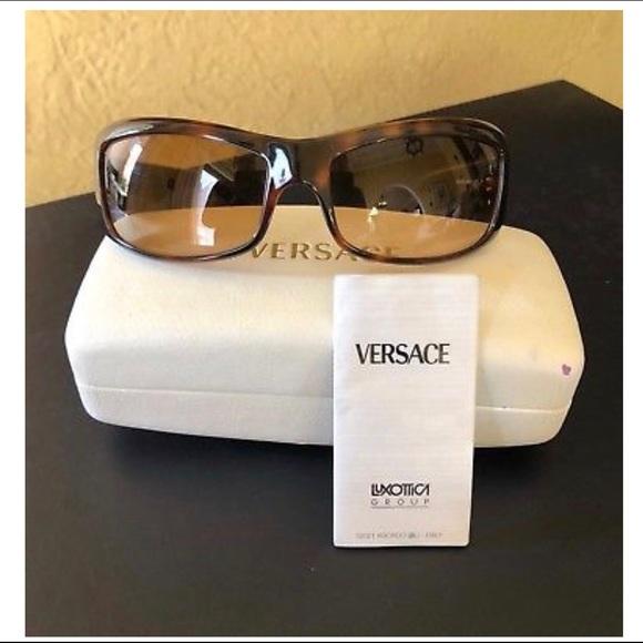 f85c9925347c Versace Tortoise Shell Frame Women s Sunglasses